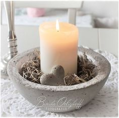 Dekotraumland Dekotraumland The post Dekotraumland appeared first on Beton Diy. Cement Art, Concrete Cement, Concrete Crafts, Concrete Projects, Concrete Design, Cement Bench, Beeswax Candles, Diy Candles, Summer Crafts