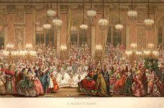 Charles Nicolas Cochin il giovane - Ballo in maschera per il matrimonio del delfino con l'infanta di Spagna nel 1745