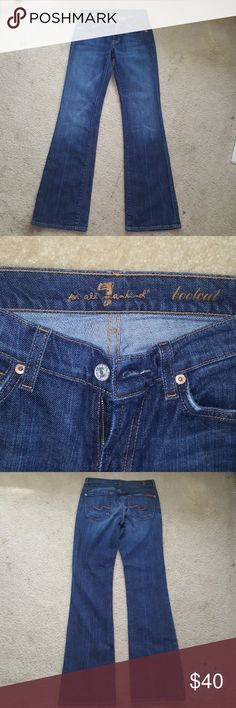 🔥7 for all mankind jeans🔥 7 for all mankind blue denim bootcut jeans. Inseam approximately 32 inches. 7 For All Mankind Jeans Boot Cut