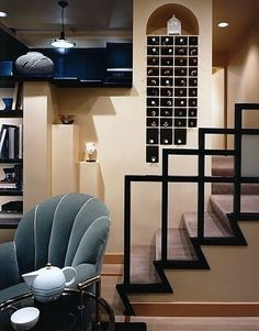 Stair Railings Design, Pictures, Remodel, Decor and Ideas - page 8 Basement Makeover, Living Room New York, Railing Design, Living Spaces, Home Remodeling, Traditional Living Room, Stairway Design, Stair Railing Design, Modern Apartment