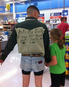 Parenting...you're doing it right. I can see Cliff doing this to Finley. Haha