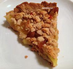 NieTaDieta: Tarta jabłkowa z rodzynkami i owocami goji bez glutenu, bez laktozy i bez cukru