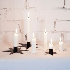 Star 17 cm (light stub), Black. Set of 3 - Ernst Kirchsteiger - Ernst Kirchsteiger - RoyalDesign.com