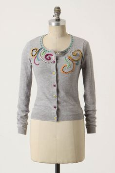 embroidered sweater ~ the best part of fall & winter is SWEATERS!!!!  :)