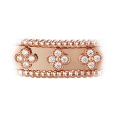 Perlée clover bracelet, medium model (2826425 RSD) ❤ liked on Polyvore featuring jewelry, bracelets, four leaf clover jewelry and clover jewelry