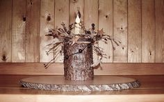 Wood Candle Holder Rustic Log Candle Holder by RusticNorthern