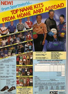 Old Football Kit Ad by Rob Lewis, via Flickr