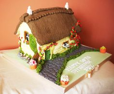 Thatched House cake. Use something like this for Little Pony Cake.