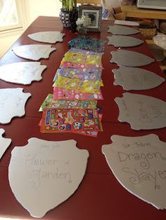 Knights Birthday Party- how to train your Dragon party. Great for the kid who has a birthday close to Halloween!
