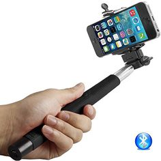 BrainyGadgets 3362313 Extendable Monopod Selfie Stick, Bluetooth Control, Adjustable Phone Holder with Charging Cable - Grey ** Click image for more details. (This is an affiliate link) #CarCradlesMounts