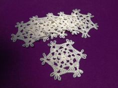 FREE SHIPPING Crochet snowflake Set of 6 crochet by Handicraftshed