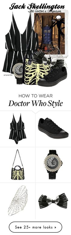 """""""Jack Skellington, The Doctor's Companion"""" by amarie104 on Polyvore featuring Disney, Ayaka Nishi and Converse"""