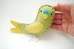 Wild Olive on YBYB: Make a Felt Luna the Parakeet!