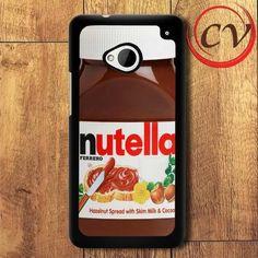 Nutella HTC One M7 Black Case