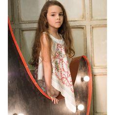 Girls Silky Ivory Handkerchief Blouse - ILLUDIA SS13