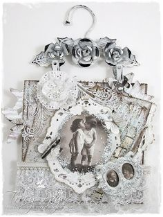 Shabby Card by LLC DT Member Tracy Payne. Papers: Maja Design's Vintage Summer & Spring collections. Image: Kort og Godt