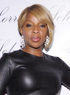 African American short bob hairstyle