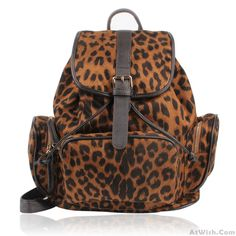Wow~ Awesome Retro good Leopard Prints BackpackSchoolbag! It only $42.99 at…