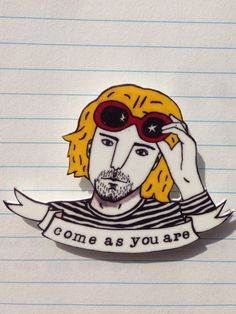 Kurt Cobain brooch by DorkDisco on Etsy