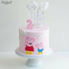 Peppa Pig is usually a British isles toddler cartoon television string guided along with manufactured Bolo Da Peppa Pig, Cumple Peppa Pig, Peppa Pig Birthday Cake, Birthday Cake Girls, Princess Birthday, 2nd Birthday, 7 Cake, Cake Blog, Pig Party