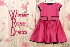 icandy handmade: (free tutorial and pattern) Winter Rose Dress