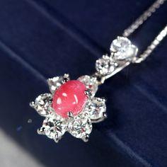 コンクパール0.6ct ダイヤモンド0.8ct プラチナ ネックレス
