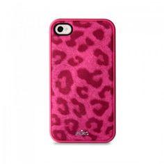 Funda iPhone 4-4S Puro Leopard Fucsia