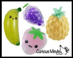 Cool Fidget Toys, Ice Packs, Fruit Water, Strawberry Fruit, Water Beads, Busy Bags, Sensory Toys, 2 Colours, Green And Purple