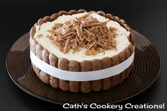 Chocolate Charlotte Russe from Cath's Cookery Creations! | www.cathscookerycreations.com