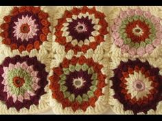 VERY EASY crochet cluster granny square tutorial - granny square for beginners - YouTube