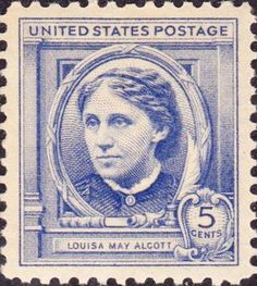 Louisa May Alcott 1940 issue - famous Americans