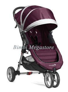 City mini 3 passeggino purple gray  - Baby Jogger - Bimbi Megastore