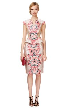 Shop Coral Morph Print Day Dress by Bibhu Mohapatra Now Available on Moda Operandi