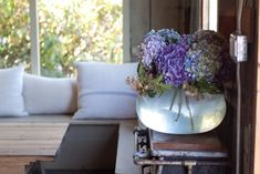 Mindy's Barn in West Marin : Remodelista- upturned lamp vase!