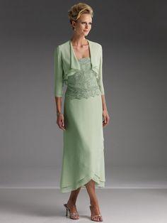 Tea length evening dresses