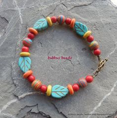 Howlite and turquoise bracelet.  www.facebook.com/bubbasbeads