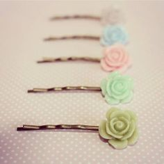 Sweet rose hair pin by TheLittleWonderland on Etsy, $3.00