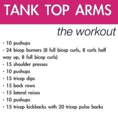 From the Community: Tank Top Arm Workout Fitness Motivation, Fitness Diet, Health Fitness, Enjoy Fitness, Daily Motivation, Fitness Goals, Mens Fitness, Get Healthy, Healthy Life