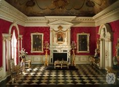 English Reception Room of the Jacobean Period, 1625-55, The Thorne Miniature Rooms