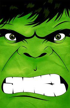 Superhero Series - The Hulk Poster Print.