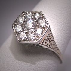 Antique Diamond Wedding Ring Vintage Art Deco by AawsombleiJewelry, $2250.00