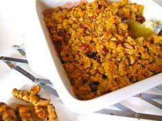 Rhubarb crumble Rhubarb Crumble, Sweet Stuff, Macaroni And Cheese, Ethnic Recipes, Food, Mac And Cheese, Essen, Meals, Yemek