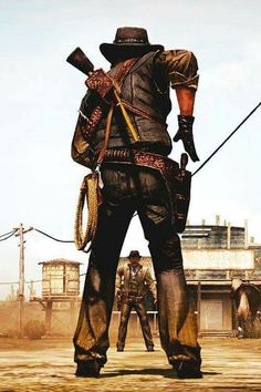 *** Cutout man in legs have ppl lose far away being the cowboy Peliculas Western, Westerns, Billy The Kid, Red Dead Redemption 1, John Marston, Western Comics, West Art, Cowboy Up, Le Far West