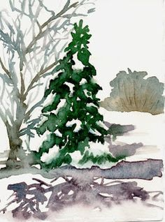 WATERCOLORS AND WORDS: IDEAS FOR CHRISTMAS CARDS