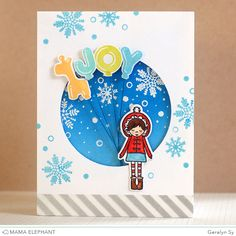 In a Creative Bubble: Tutorial // Joy Holiday Card