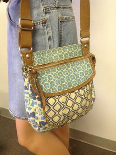 Fossil Original Brand Canvas Shoulder Crossbody Bag Decorative Pattern Designer  #Handbag #Fossil #Fashion