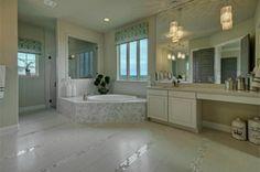 light airy master bath