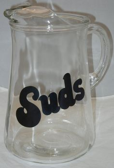 Suds Retro Typography Beer Pitcher Man Cave by RetroPickins