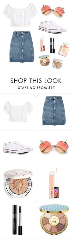 Summer fun outfit💗 by outfits4everyonee on Polyvore featuring Topshop, Converse, Chantecaille, MAC Cosmetics, Christian Dior and tarte