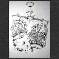 libra Libra Art, Zodiac Art, Libra Sign, Libra Zodiac Tattoos, Libra Tattoo, Sticker Bomb Wallpaper, Animal Line Drawings, Celtic Cross Tattoos, Scale Tattoo